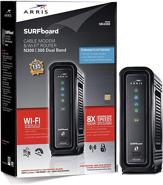 ARRIS SURFboard SBG6580 best modem comcast