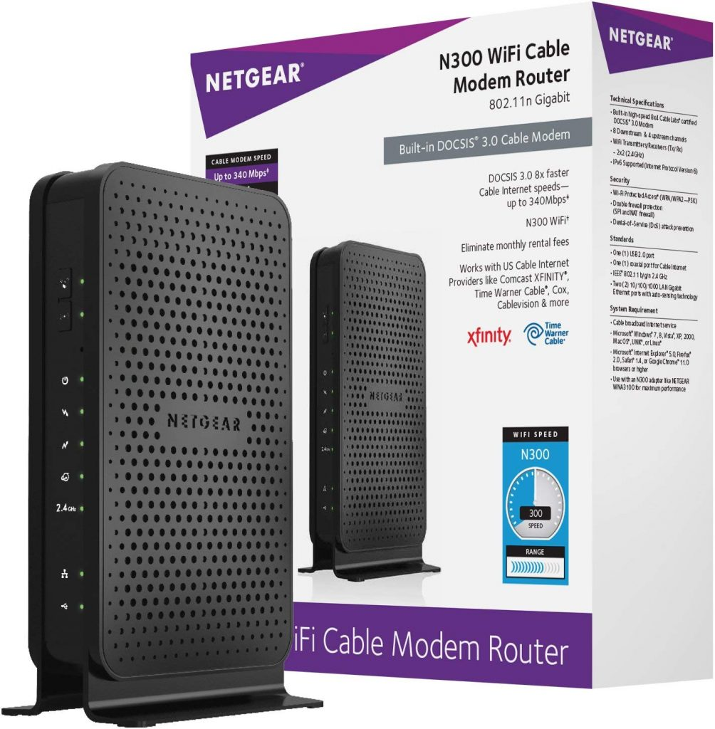 best wifi modem for comcast in 2018 NETGEAR N300